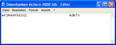 ldb file in access: