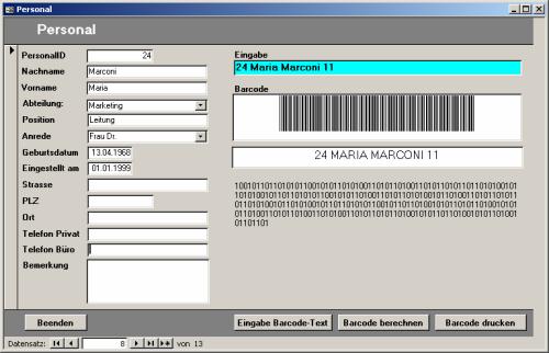 Barcodes mit Access drucken [Access im Unternehmen]