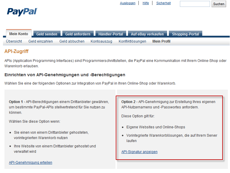 paypal kontostand