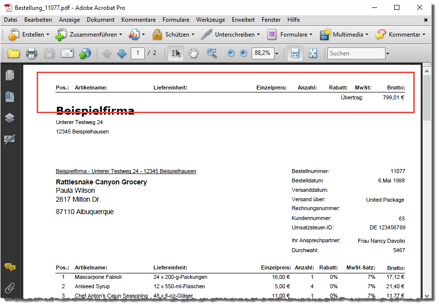 Bericht Per Pdf Und Mail Verschicken Access Im Unternehmen