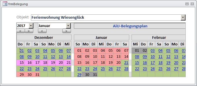 Belegungsplan mit Kalender [Access im Unternehmen]