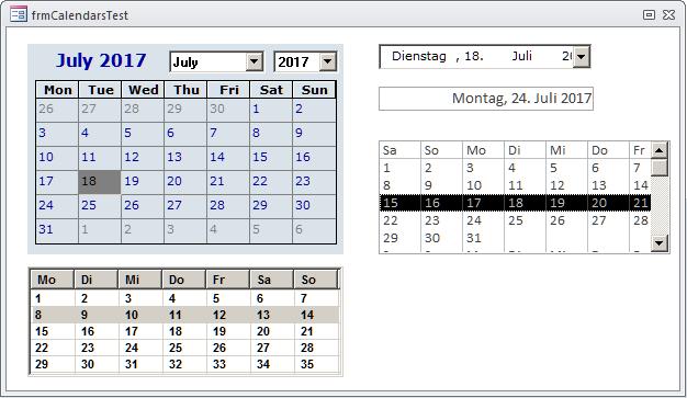 Kalendersteuerelement, Teil 1 [Access im Unternehmen]